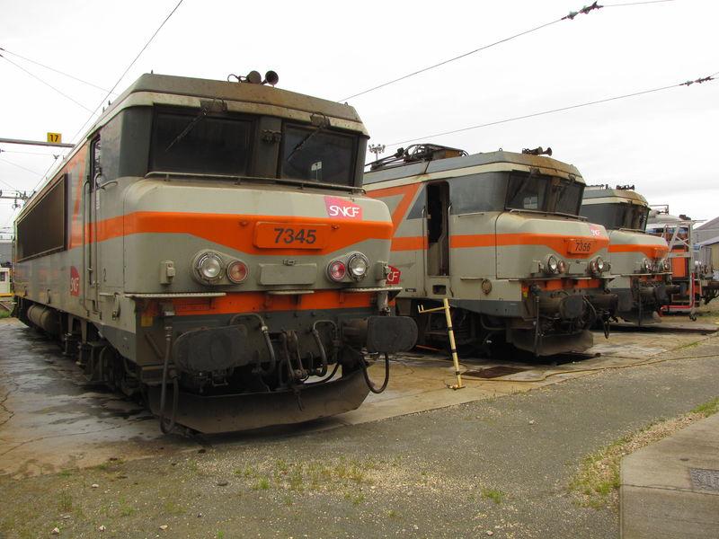BB 7345 au dépôt de Bordeaux