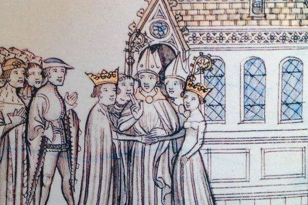 Mariage de Louis VII le Jeune, futur roi de France avec Aliénor de Guyenne - Aquitaine