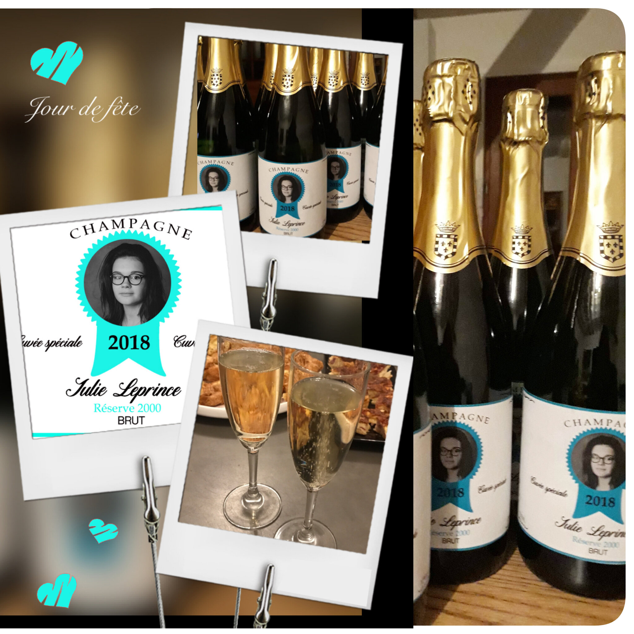 collage CHAMPAGNE JULIE