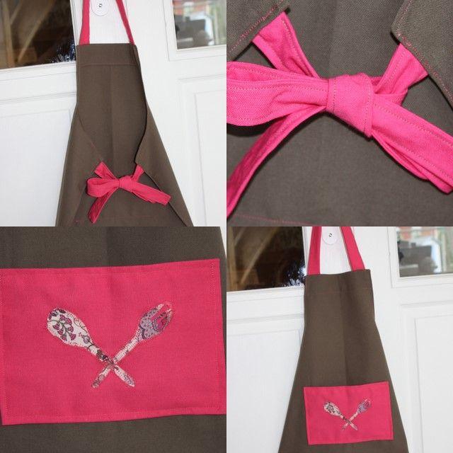 le tablier de cuisine fushia/chocolat - Photo de Petites coutures ...