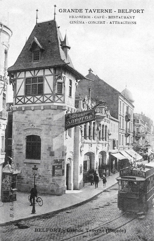 CPA Belfort Grande Taverne 1910-17 BF