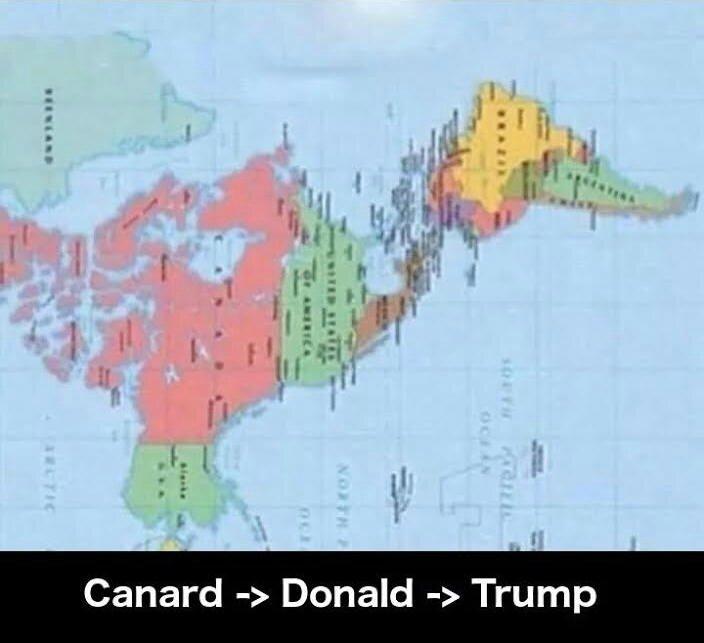 Carte Etats Unis Trump