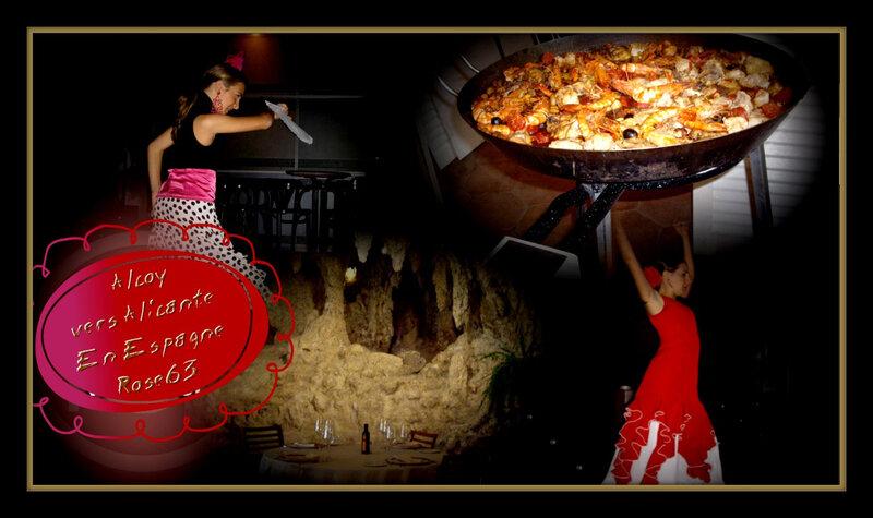 repas espagnol Rose63 restaurant troglodyte
