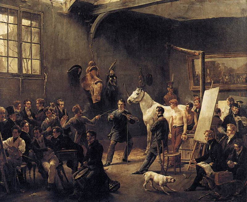 Vernet,_Horace_-_The_Artist's_Studio_-_c