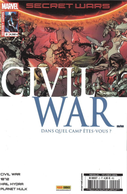 Panini Marvel Secret Wars Civil War