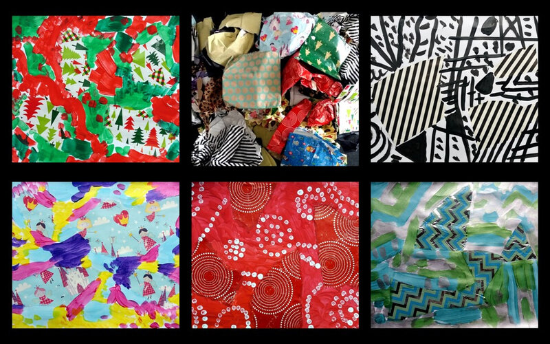 346-Compositions abstraites-Recyclage papier cadeau (89)