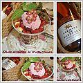 Soupe pétillante aux fruits rouges et sa glace crèmeuse à la fraise ...