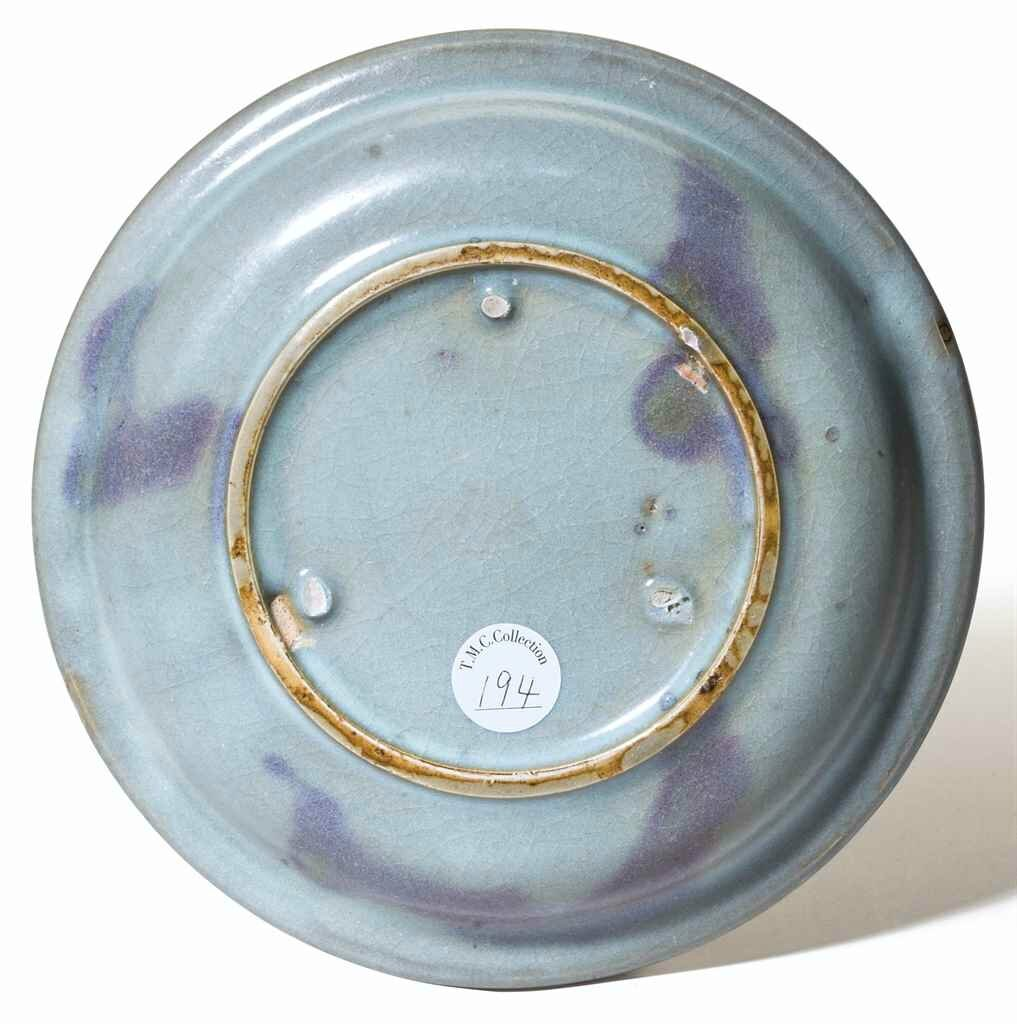 A rare purple-splashed Jun dish, Northern Song-Jin dynasty, 12th century