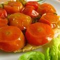 Tartelette tatin de tomates cerises au pesto