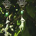 Boucles d'oreilles L'enfance de la Belle au bois dormant
