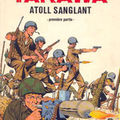 La guerre dans le pacifique , tarawa , infanterie japonaise .