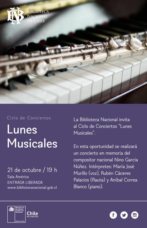 """Ciclo de Conciertos """"LUNES MUSICALES"""" - 21 octubre 2019"""