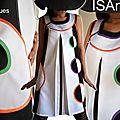 Robe Graphique Bicolore Noire blanche & Géométrique