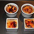 Crème brûlée à la tomate confite et au parmesan.