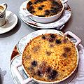 Crème brulée aux myrtilles !