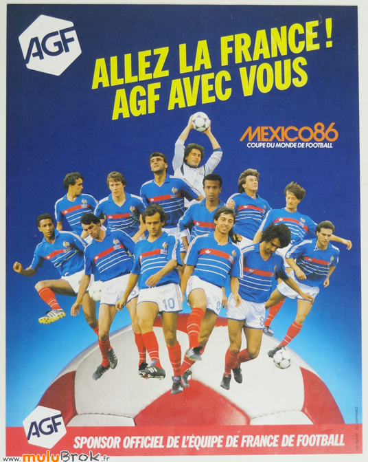 FOOTBALL-Mexico-86-Puzzle-AGF-Poster-4-muluBrok-Vintage
