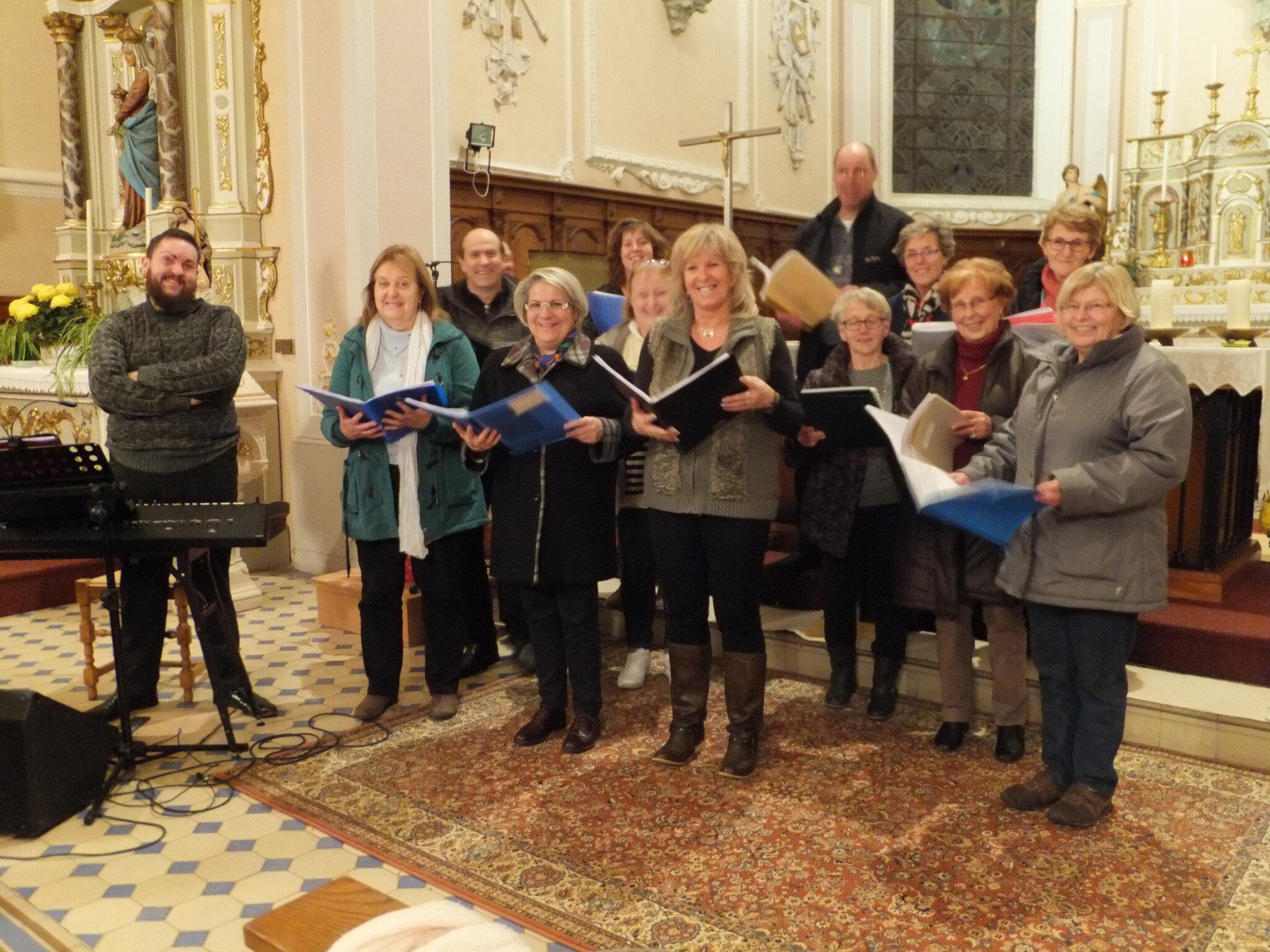 Répétitions de la chorale