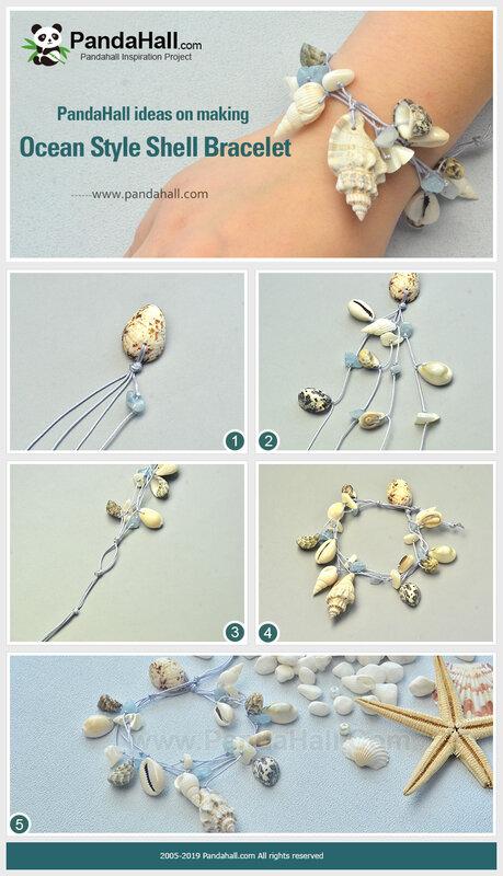 3PandaHall-ideas-on-making-Ocean-Style-Shell-Bracelet