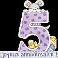 Pour mon petit evann qui fêtera ses 5 ans !!