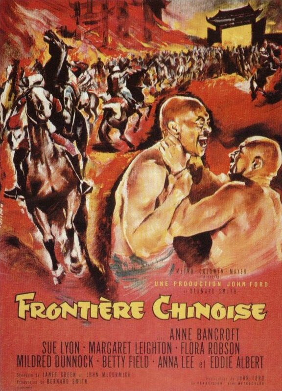Affiche Frontière chinoise 1966 John Ford