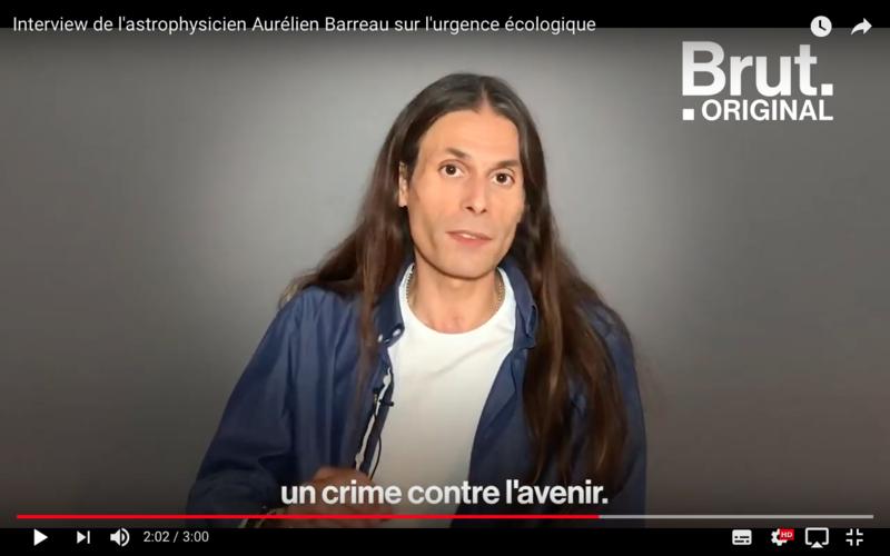Aurélien Barrau un crime contre l'avenir