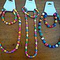 collier de perles en bois