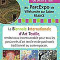 Biat quilt expo en beaujolais 11-14 avril 2018