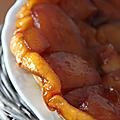 Tarte tatin aux pommes & miel du gâtinais