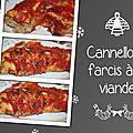 Cannellonis farcis à la viande