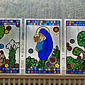 Triptyque Vierge à l'enfant - fusing - clotilde gontel