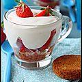 Coupe sablée aux fraises.