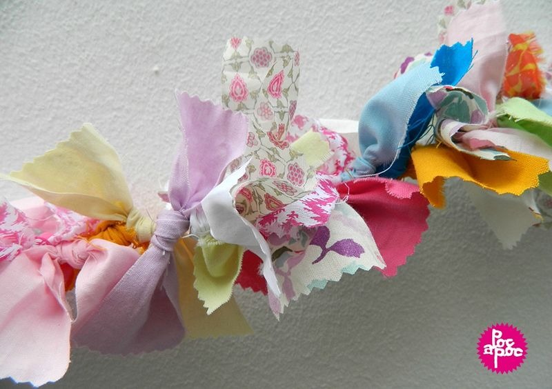 guirlande en tissu poc a poc,décoration, déco,décoration chambre enfant,DIY,tutorial5 blog