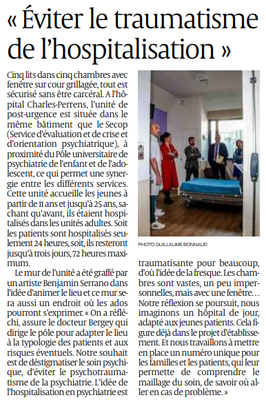 2019 05 08 SO Eviter le traumatisme de l'hospitalisation