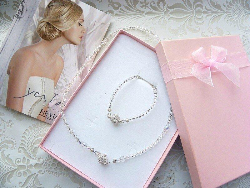 Coffret avec parure bijoux de mariage Juliette