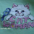 T-shirt cat woman - détail devant
