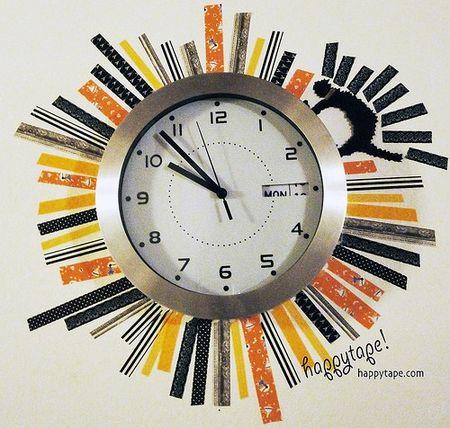 horloge_masking_tape_DIY