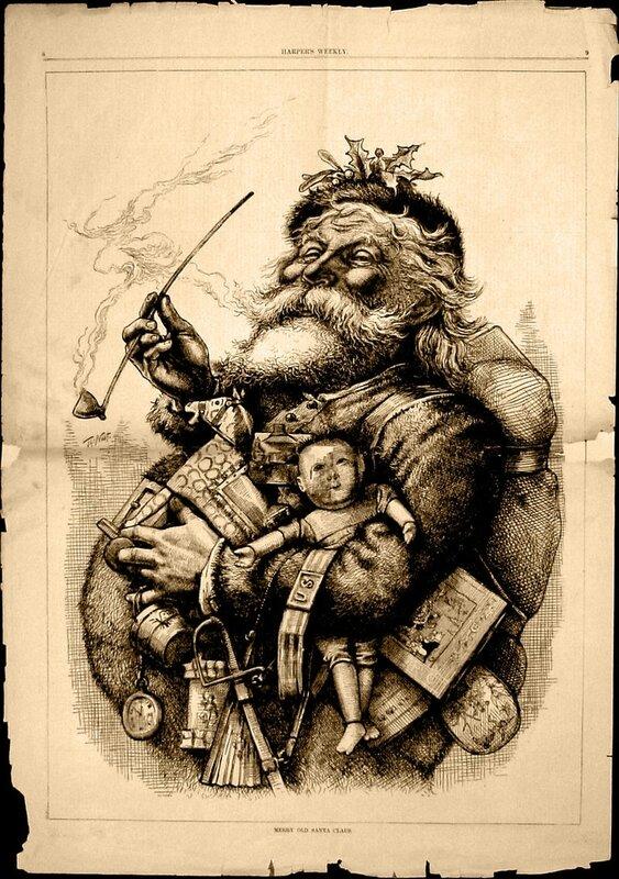 Père Noël Thomas Nast-1881
