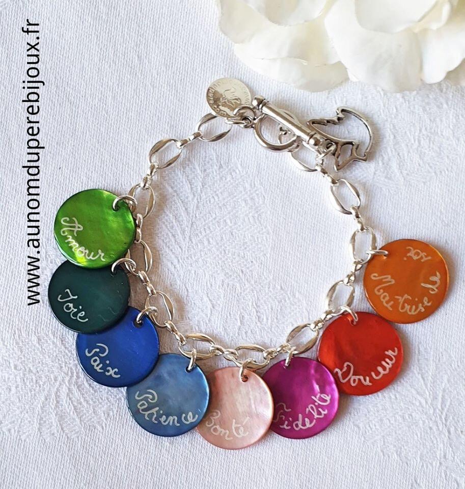 Bracelet Fruits de l'Esprit - 49 € sur chaîn métal, 84 € sur chaîne argent massif