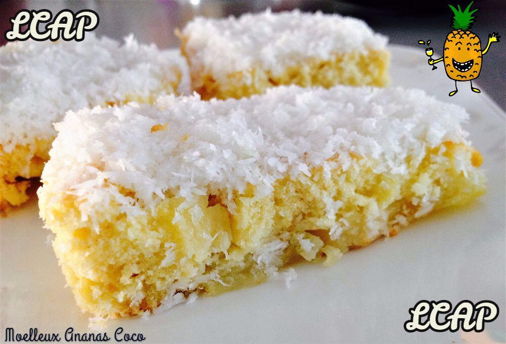 Moelleux à l'ananas et coco façon Pina Colada