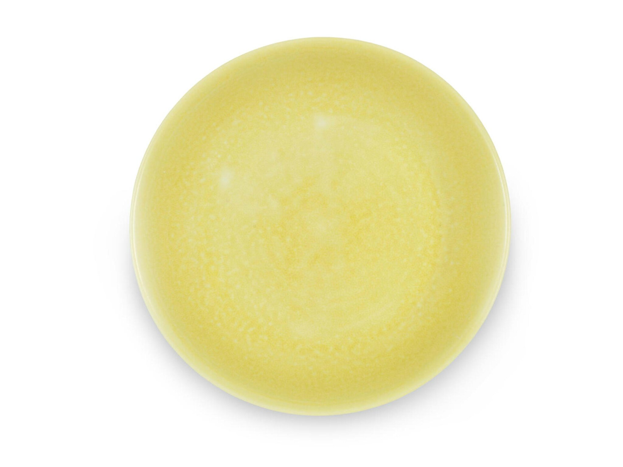 A rare yellow-glazed saucer-dish, Zhengde six-character mark and of the period (1506-1521)