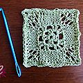 Test knooking : knooked granny square
