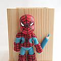 Porte crayon heros spider