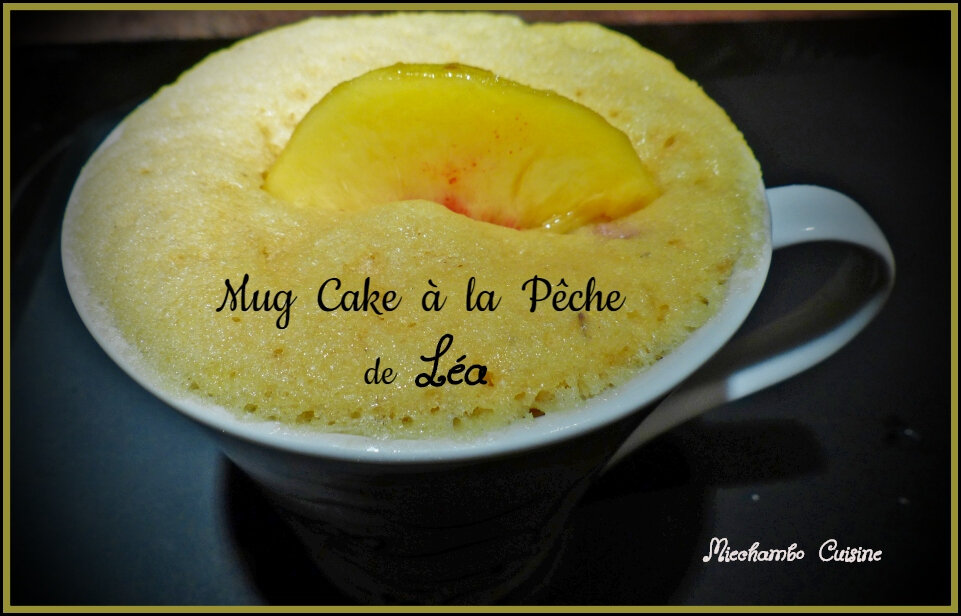 Mug Cake à la Pêche de Léa