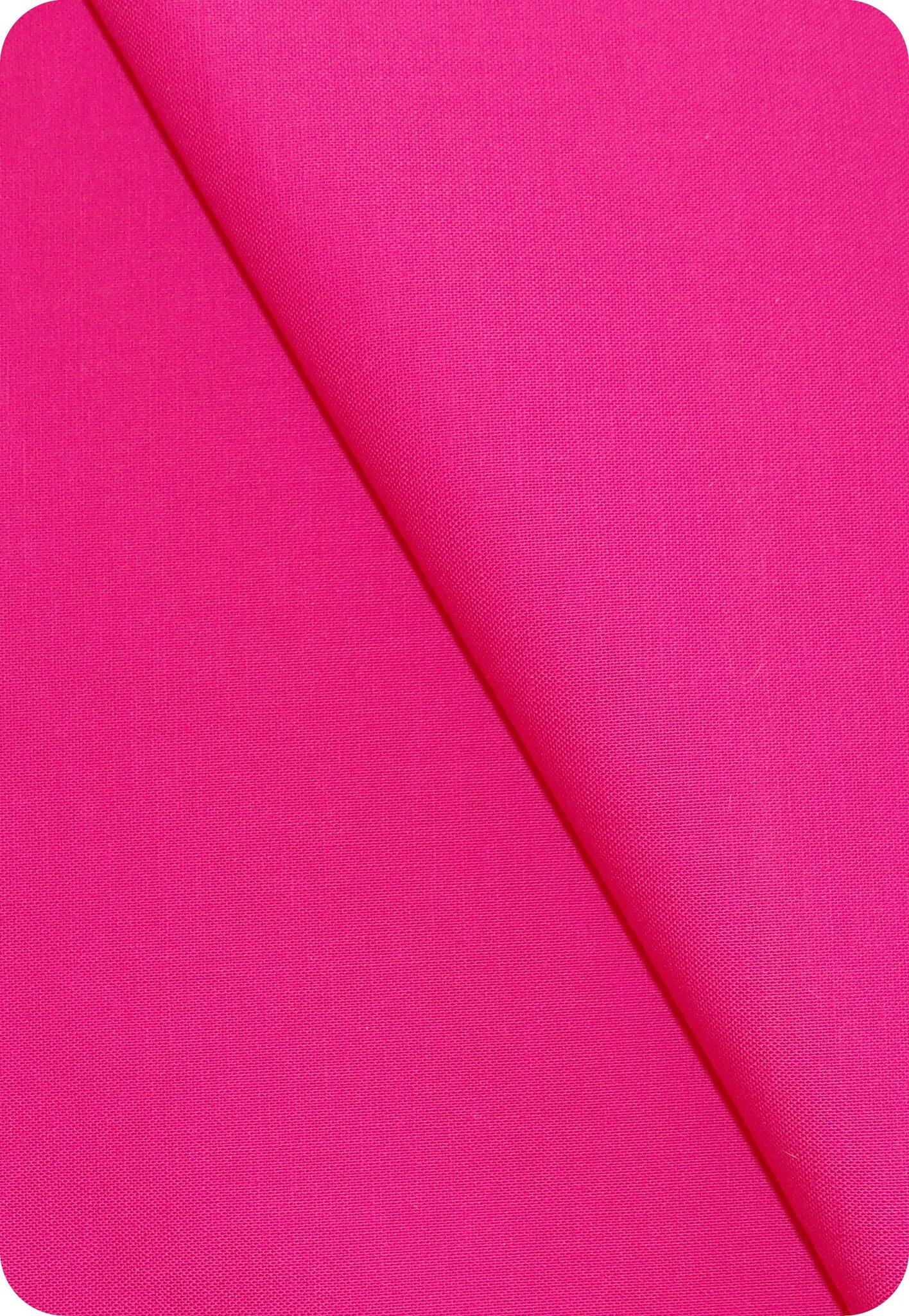 Tissu coton rose fuchsia