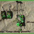 Parure ' Visage choco/pistache' : 40 euros.VENDUE.