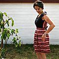 Robe Bella Chardon à rayures