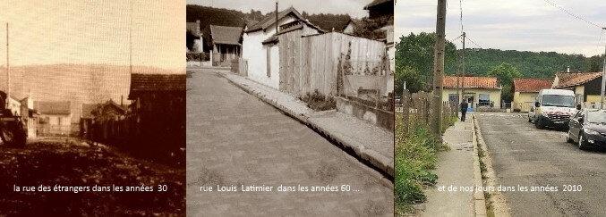 rue Louis Latimier 3 époques avec texte