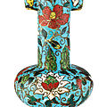 A cloisonné enamel arrow vase, ming dynasty, 15th–16th century
