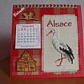 Calendrier Alsace