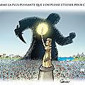 Liberté d'expression: une initiative courageuse des régions françaises. un dessin de chaunu exposé à caen et à rouen.